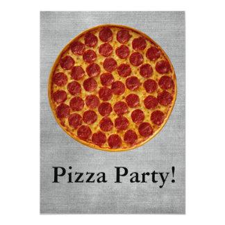 Fiesta de la pizza invitación 12,7 x 17,8 cm