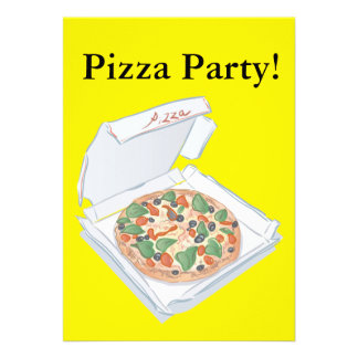Fiesta de la pizza invitacion personalizada