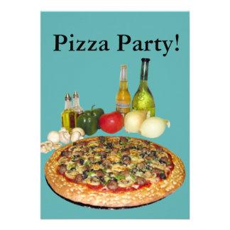 Fiesta de la pizza comunicados personalizados
