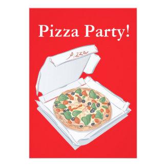 Fiesta de la pizza invitación