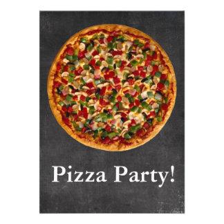 Fiesta de la pizza invitaciones personales