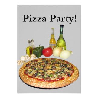 Fiesta de la pizza anuncios personalizados