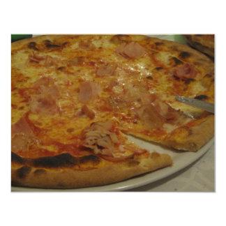 FIESTA DE LA PIZZA INVITACIÓN 10,8 X 13,9 CM