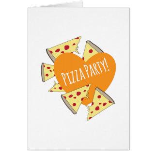 Fiesta de la pizza felicitación