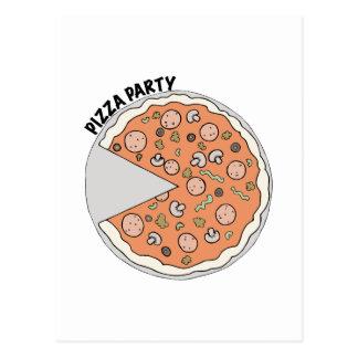 Fiesta de la pizza tarjetas postales