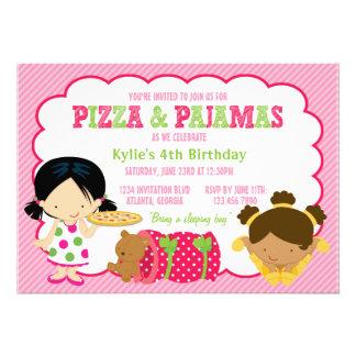 Fiesta de la pizza y del Sleepover de los pijamas