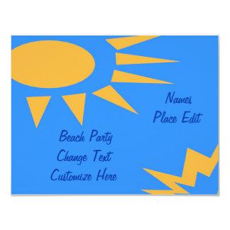 Fiesta de la playa del marco de Sun Invitación 10,8 X 13,9 Cm