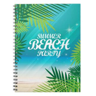 Fiesta de la playa del verano cuaderno