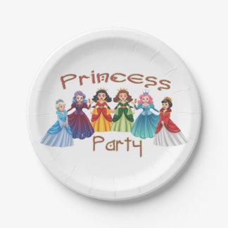 Fiesta de la princesa cumpleaños plato de papel