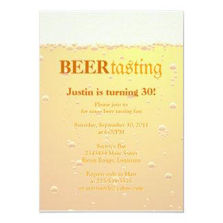 Fiesta de la prueba de la cerveza invitación 12,7 x 17,8 cm