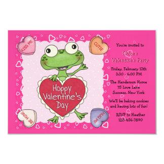 Fiesta de la tarjeta del día de San Valentín del Invitación 8,9 X 12,7 Cm