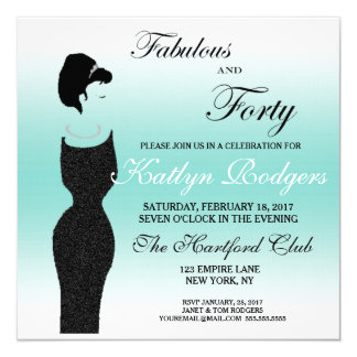 Fiesta de la tiara fabuloso en la 40.a invitación