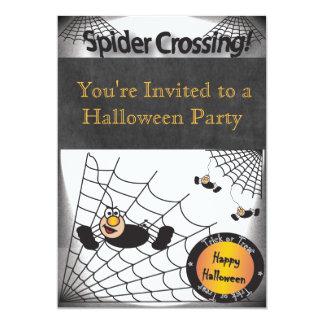 Fiesta de la travesía de la araña de Halloween Invitación 12,7 X 17,8 Cm