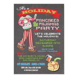 Fiesta de las crepes y de pijamas del navidad de invitación 12,7 x 17,8 cm
