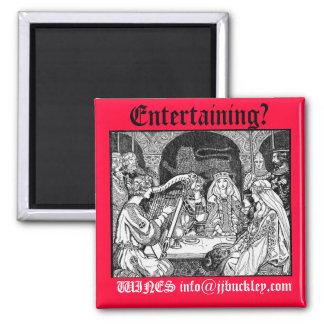 ¿fiesta de las Edades Medias, entreteniendo? , VIN Imán Cuadrado