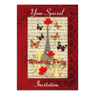 Fiesta de las tarjetas del día de San Valentín de Invitación 12,7 X 17,8 Cm