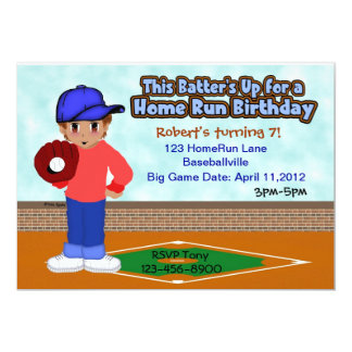 Fiesta de los deportes del béisbol invitación 12,7 x 17,8 cm