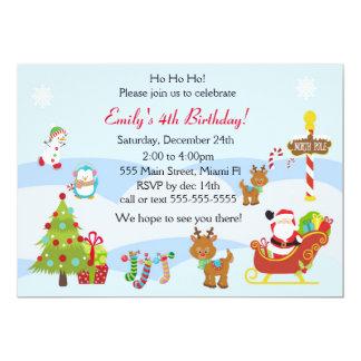 Fiesta de los niños del navidad de la invitación