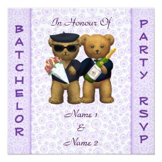 Fiesta de macho gay - invitación de los osos de