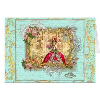 Fiesta de Marie Antonieta en la tarjeta de