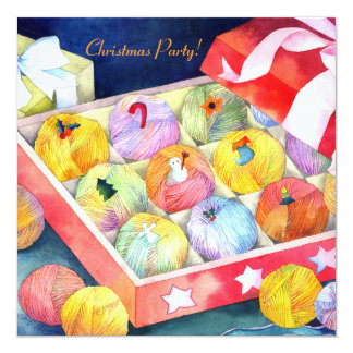 Fiesta de Navidad de la caja de regalo de las Invitación 13,3 Cm X 13,3cm