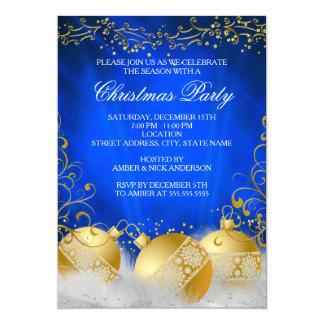 Fiesta de Navidad del blanco de la chuchería del Invitación 12,7 X 17,8 Cm