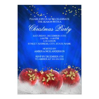 Fiesta de Navidad del blanco de las chucherías del Invitación 12,7 X 17,8 Cm