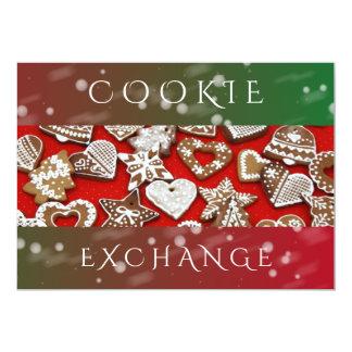 Fiesta de Navidad del intercambio el | de la Invitación 12,7 X 17,8 Cm