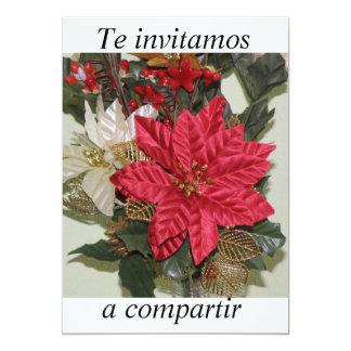 fiesta de Navidad del invitacion Invitación 12,7 X 17,8 Cm