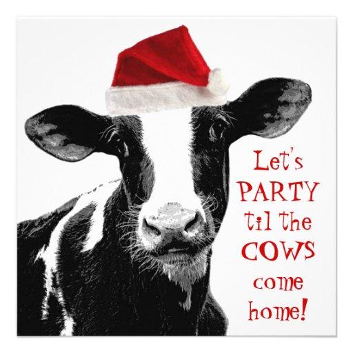 Fiesta de Navidad del personal de la granja lecher Invitacion Personal