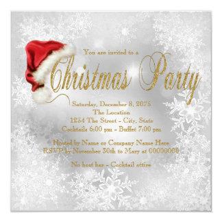 Fiesta de Navidad Inivtations del copo de nieve Invitación 13,3 Cm X 13,3cm