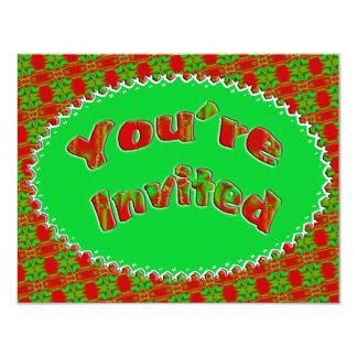 Fiesta de Navidad Invitación 10,8 X 13,9 Cm