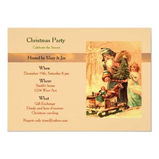 Fiesta de Navidad Invitación 11,4 X 15,8 Cm