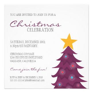 Fiesta de Navidad moderna del árbol de navidad y d Comunicado