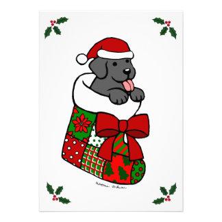 Fiesta de Navidad negra del perrito del laboratori Comunicado