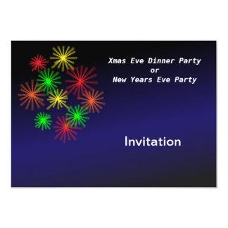 Fiesta de Navidad o de Noche Vieja la invitación