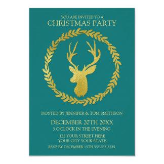 Fiesta de Navidad oscura de los ciervos de la Invitación 12,7 X 17,8 Cm