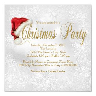 Fiesta de Navidad roja Inivtation del copo de Invitación 13,3 Cm X 13,3cm