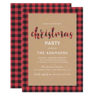 Fiesta de Navidad rústica de la escritura de la Invitación 12,7 X 17,8 Cm