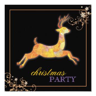 Fiesta de Navidad única del negro del reno del Invitación 13,3 Cm X 13,3cm