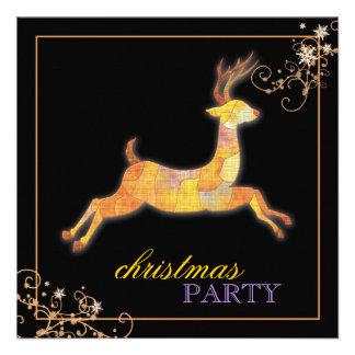 Fiesta de Navidad única del negro del reno del rem Invitacion Personalizada