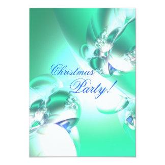 Fiesta de Navidad verde del satén del día de Invitación 12,7 X 17,8 Cm