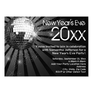 Fiesta de Noche Vieja de la bola de discoteca Invitación 12,7 X 17,8 Cm