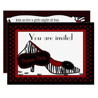 Fiesta de pijama de Bachelorette en la invitación