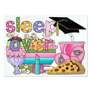 Fiesta de pijama de la graduación/sueño encima - invitación 13,9 x 19,0 cm