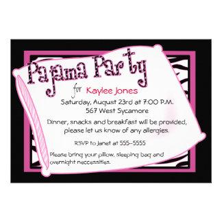 Fiesta de pijama en negro y rosa