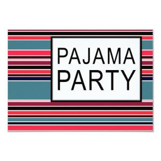 fiesta de pijama rayado anuncio personalizado