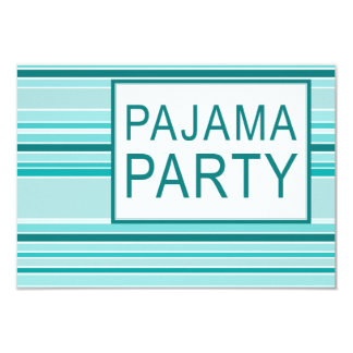 fiesta de pijama rayado invitación 8,9 x 12,7 cm