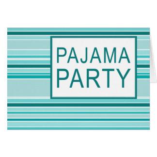 fiesta de pijama rayado felicitación