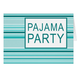 fiesta de pijama rayado tarjeta pequeña